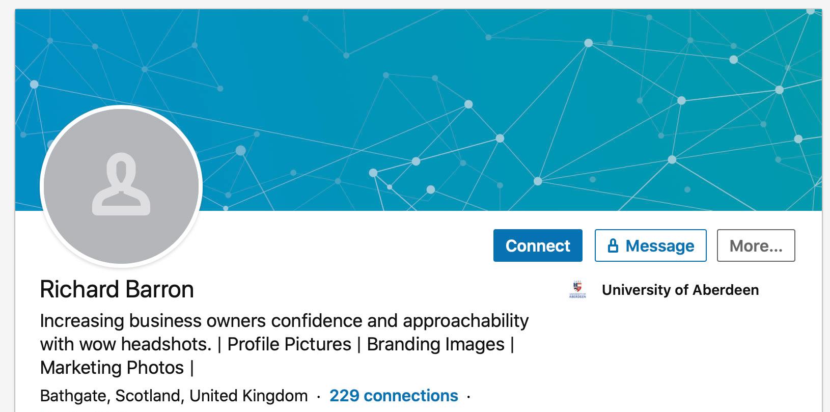 Blank LinkedIn Profile Picture